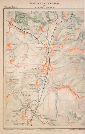 KŁODZKO. Mapka okolic Kłodzka – pierwotnie zamieszczona na jednym  ...