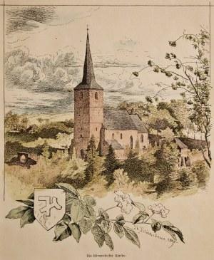 SĘDZISZOWA (pow. złotoryjski). Widok na kościół, rys. Theodor Bl