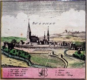 ŚCINAWA. Panorama miasta, według Friedricha Bernharda Wernera, zamie ...