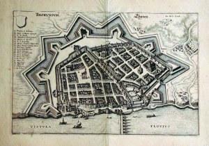 TORUŃ. Perspektywiczny plan miasta od strony Wisły, ryt. i wyd. M. M ...