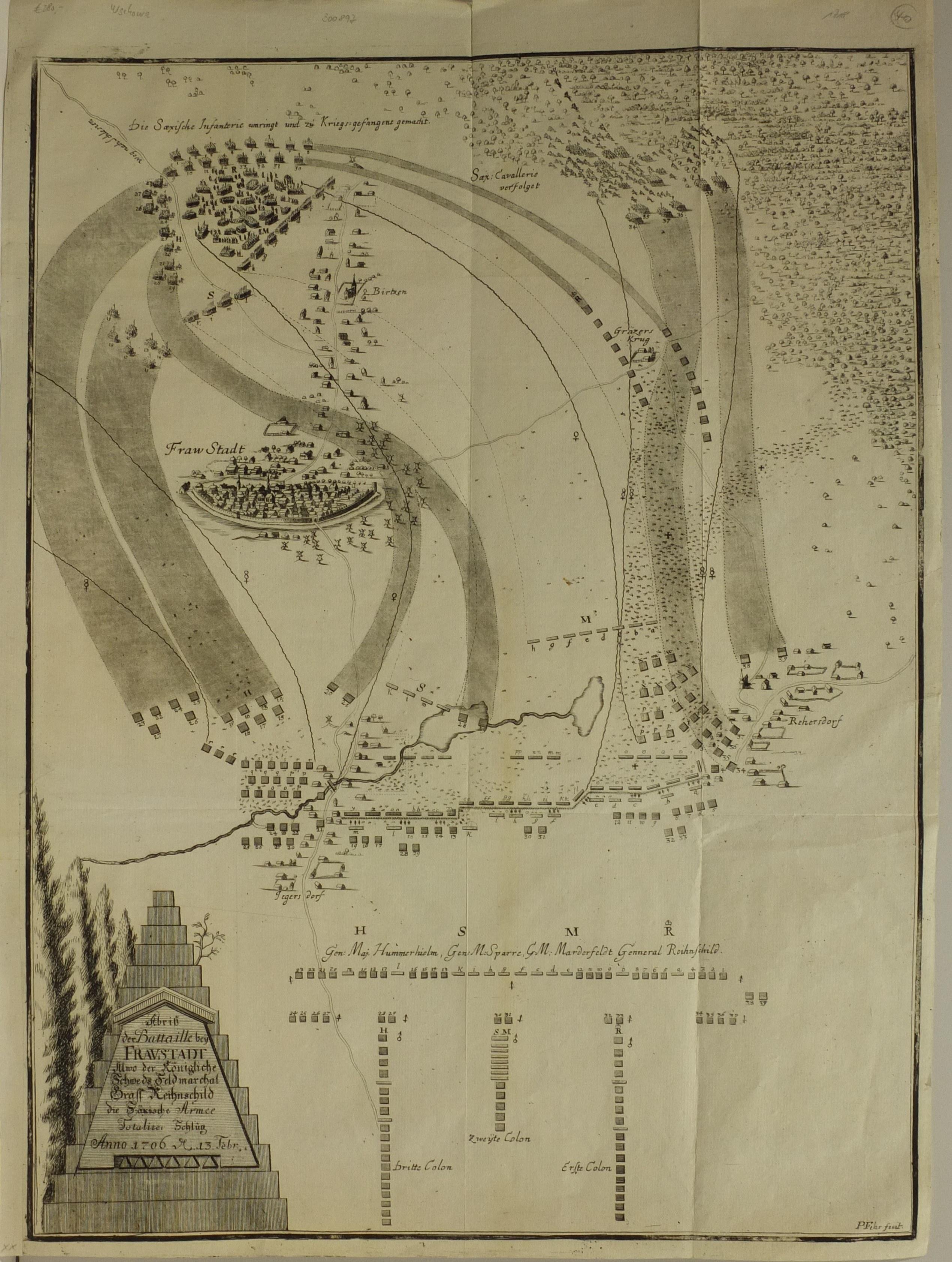 WSCHOWA; plan przedstawiający ogólny widok okolicy miasta i rozmiesz ...