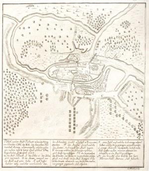PUŁTUSK. Plan bitwy wojsk szwedzkich i saskich pod Pułtuskiem (V 170 ...