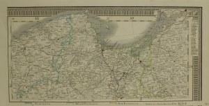 GDAŃSK; mapa przedstawiająca Pomorze, oraz zachodnią i wschodnią c ...