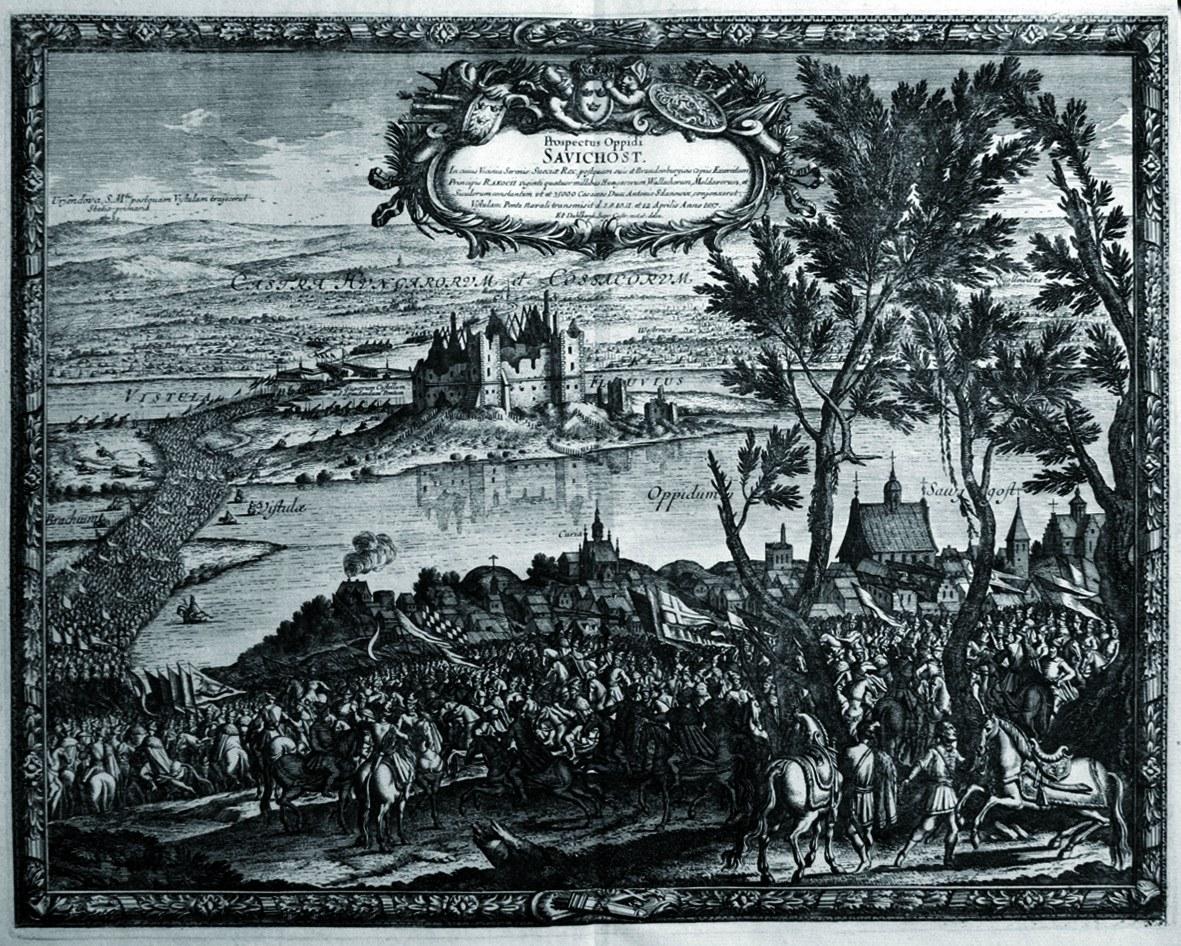 ZAWICHOST. Forsowanie Wisły przez wojska Rakoczego (8-12 IV 1657), ry ...
