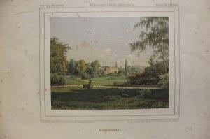 WYSOKA. Widok na pałac, rys. Th. Albert, lit. w zakładzie Winckelman ...