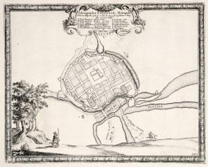 POZNAŃ. Plan miasta, ryt. Francois de Lapointe (sygn. ryt. w prawym d ...