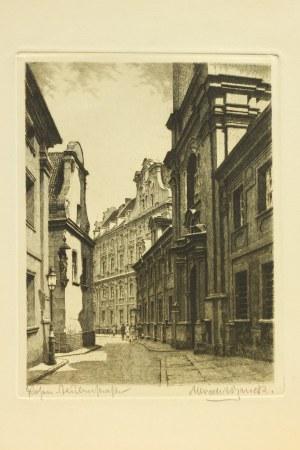 POZNAŃ; uliczka Poznania; ; ryt. Albrecht Bruck (1874-1964), przed 19 ...
