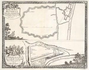 JEŁGAWA (do 1918 Mitawa), DOBELE (pol. Doblena). Uproszczony plan twi ...