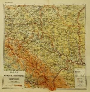 STANISŁAWÓW/ TARNOPOL; mapa dwóch województw stanisławowskiego i  ...