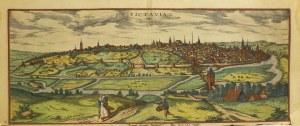POITIERS; widok ogólny miasta i okolic, rys. Joris Hoefnagel górna c ...