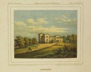 MOSKOWSKOJE (OBWÓD KALININGRADZKI). Widok na pałac, rys. R. Kallina, ...