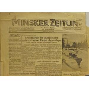 MIŃSK (biał. Мінск). Minsker Zeitung. Das deutsche Tageblatt f