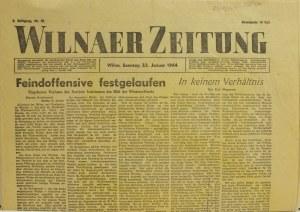 WILNO, Wilnaer Zeitung, nr 19, styczeń 1944, gazeta wychodząca w cza ...