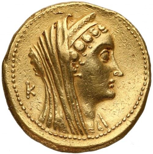 Egipt, królowa Arsinoe i Ptolemeusz Filadelfos, ZŁOTA OKTODRACHMA - 27.9g