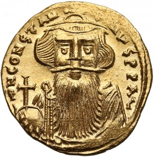 Konstans II (641-668), Solid - krzyż - piękny stan