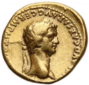 Klaudiusz (41-54) i Agrypina Młodsza, Aureus - rzadki