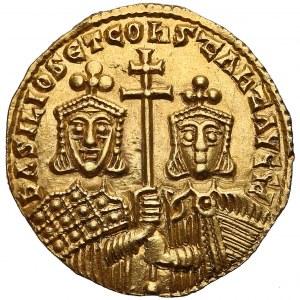 Bazyli I i Konstantyn (868-879), Solid - ładny egzemplarz