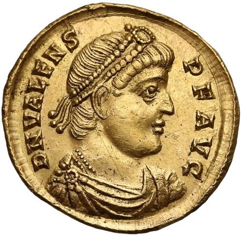 Walens (364-378), Solid - cesarz z chrystogramem