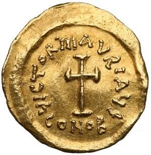 Maurycy Tyberiusz (582-602), Tremissis - krzyż