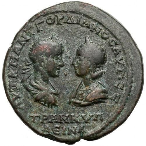 Gordian III (238-244) i Trankwilina, Tomis, 5 Assaria - rzadki wariant