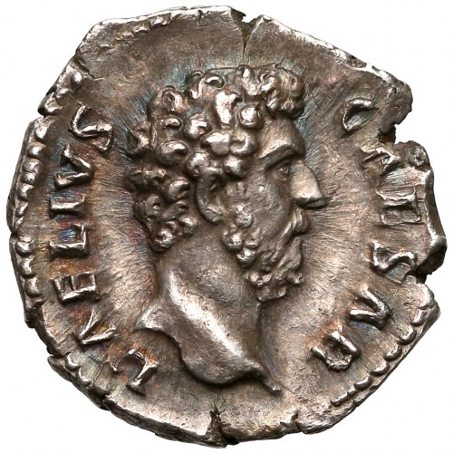 Aeliusz (Cezar 136-138), Denar - Pietas - piękny egzemplarz