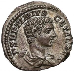 Geta (jako Cezar 198-209), Denar - konsul po raz drugi