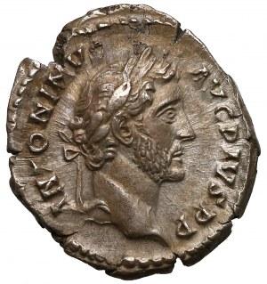 Antoninus Pius (138-161), Denar - grom nad tronem