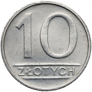 Odbitka w ALUMINIUM 10 złotych 1985