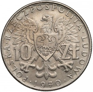 Próba MIEDZIONIKIEL 10 złotych 1970 Byliśmy, Jesteśmy, Będziemy - b. rzadkie