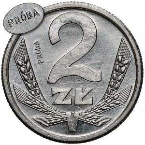 Próba ALUMINIUM 2 złote 1989 - 1 z 10 sztuk