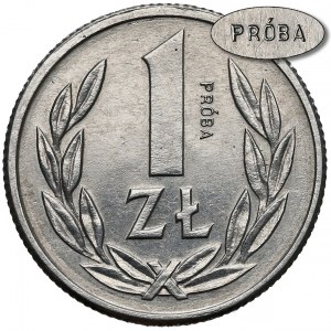 Próba ALUMINIUM 1 złoty 1989 - 1 z 18 sztuk