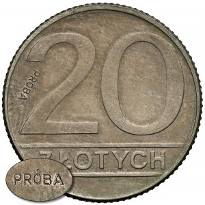 Próba MIEDZIONIKIEL 20 złotych 1989 - b. rzadka