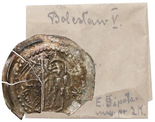 Bolesław V Wstydliwy, Brakteat - książęz chorągwią - rzadki