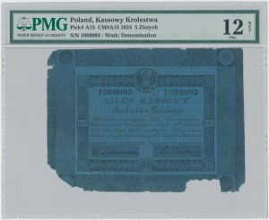5 złotych 1824 - Sobolewski / Dembowski - PMG 12 NET