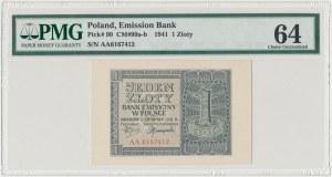 1 złoty 1941 - AA - PMG 64