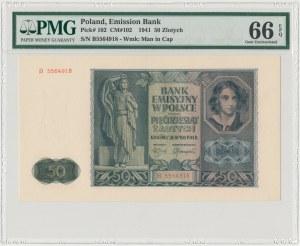50 złotych 1941 - B - PMG 66 EPQ