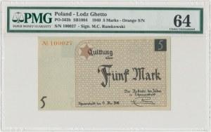 Getto 5 marek 1940 - papier kartonowy - PMG 64
