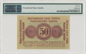 Poznań 50 kopiejek 1916 ''...nabywa'', mała czcionka - PMG 65 EPQ