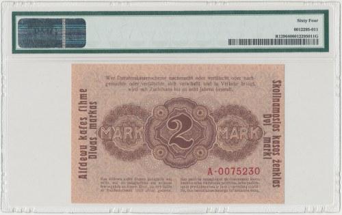 Kowno 2 marki 1918 - PMG 64