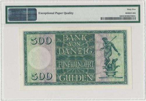 Gdańsk 500 guldenów 1924 - PMG 65 EPQ