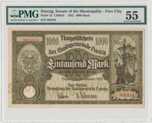 Gdańsk 1.000 marek 1922 - PMG 55