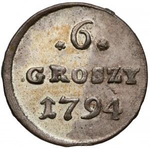 Poniatowski, 6 groszy 1794 - bardzo ładne