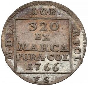 Poniatowski, Fałszerstwo PRUSKIE Grosza srebrnego 1766 F.S.