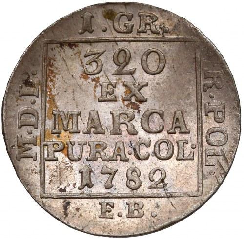 Poniatowski, Grosz srebrny 1782 E.B. - piękny