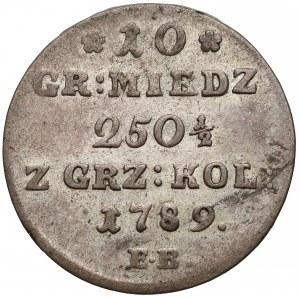 Poniatowski, 10 groszy 1789 E.B.