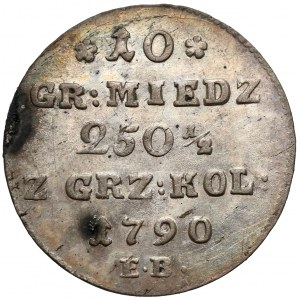 Poniatowski, 10 groszy 1790 E.B.
