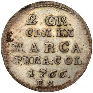 Poniatowski, Półzłotek 1766 F.S.