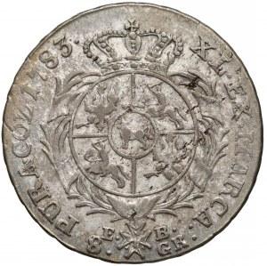 Poniatowski, Dwuzłotówka 1783 E.B. - nowy portret