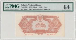2 złote 1944 ...owe - Bn - PMG 64
