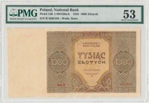 1.000 złotych 1945 - Ser.B - PMG 53